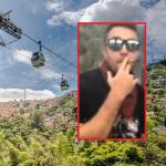 Metrocable de Medellín y turista fumando marihuana