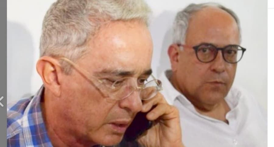 Álvaro Uribe y José Obdulio Gaviria