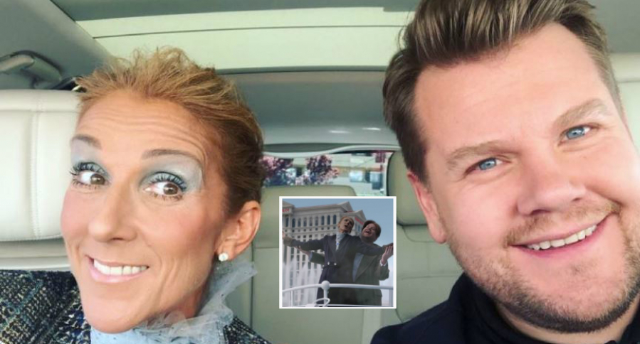 Céline Dion y James Corden