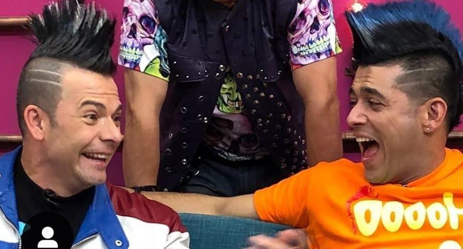 Iván Lalinde, presentador, y Santiago Alarcón, actor.