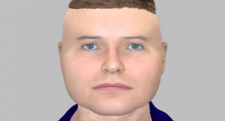 Retrato computarizado de ladrón.