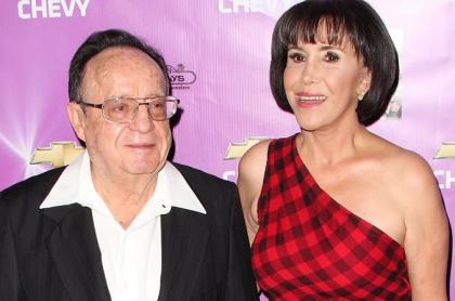 Roberto Gómez Bolaños y Florinda Meza, actores.