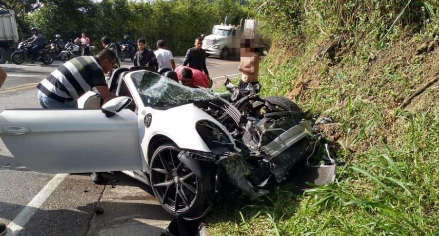 Accidente vía Guaduas-Villeta