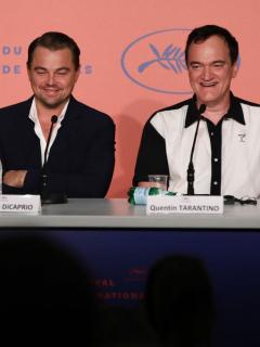 Brad Pitt, Leonardo DiCaprio y Quentin Tarantino