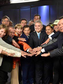 Iván Duque y sindicatos.
