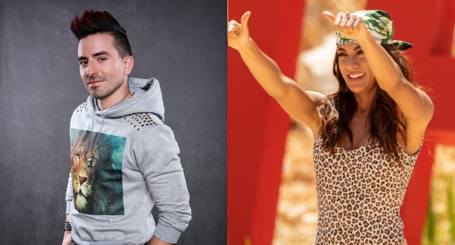 Santiago Reyes, actoy, y Andrea Serna, presentadora.