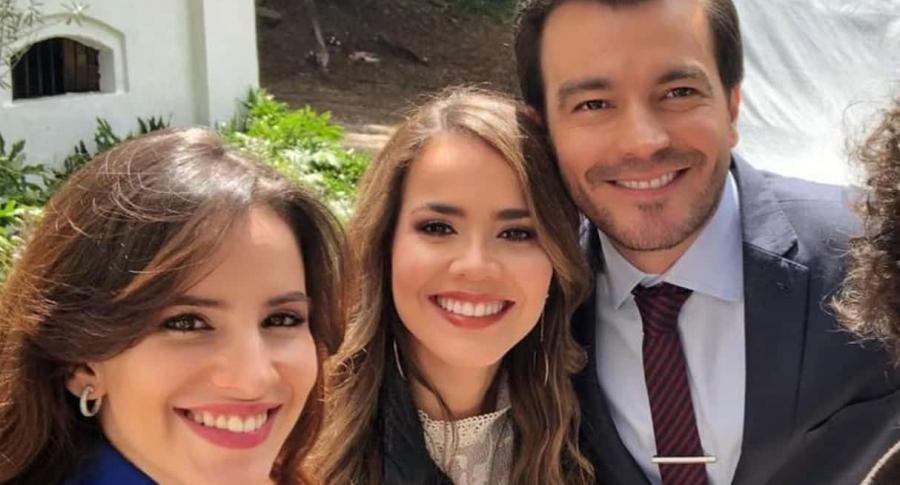 Laura Londoño, Laura de León y Luciano D'Alessandro, actores.