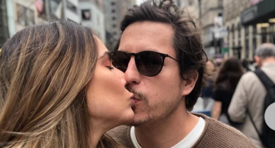 Alejandro Riaño, humorista, y su esposa María Alejandra Manotas.