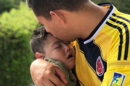 Santiago Londoño y su padre