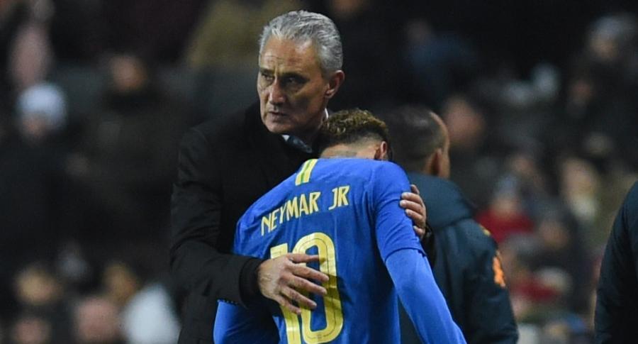 Tite y Neymar