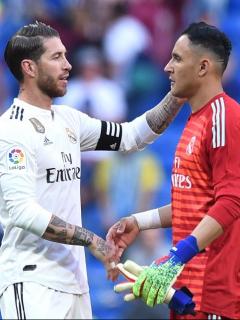 Sergio Ramos y Keylor Navas
