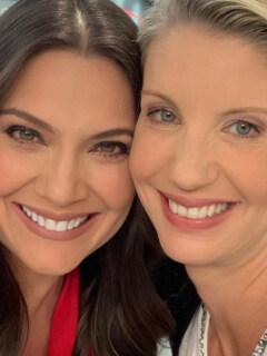Jessica de la Peña y Claudia Gurisatti, presentadoras.