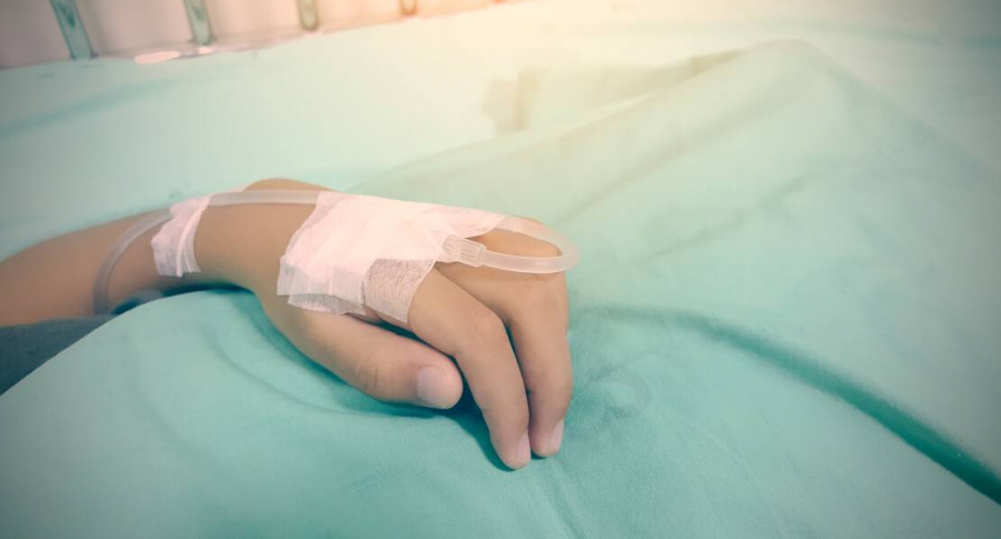 Menor hospitalizado.