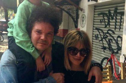 Andrés Cabas, cantante, y Johana Bahamón, actriz.