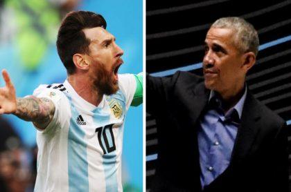 Lionel Messi y Barack Obama