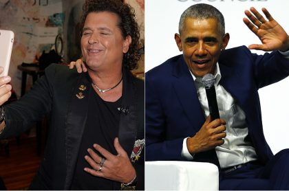 Carlos Vives, cantante, y Barack Obaman, expresidente de Estados Unidos.
