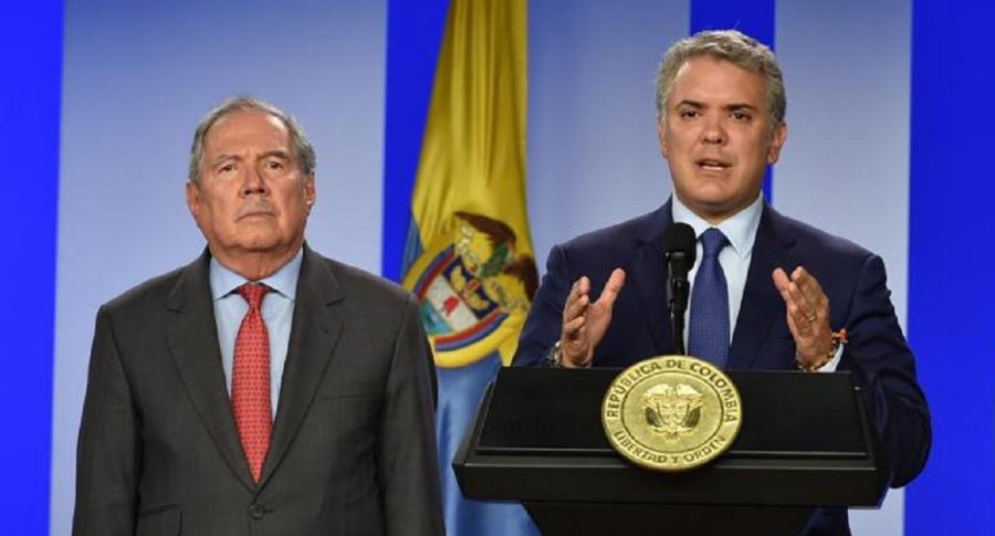 Guillermo Botero e Iván Duque