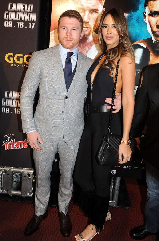 'Canelo' Álvarez, boxeador, y Shannon de Lima, modelo.