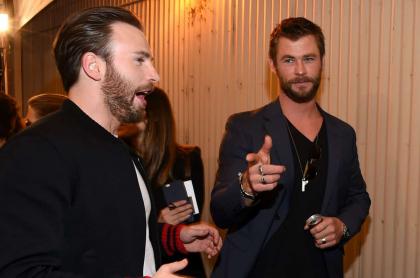 Chris Evans y Chris Hemsworth