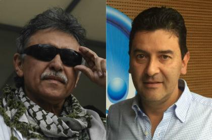 'Jesús Santrich' y Néstor Morales