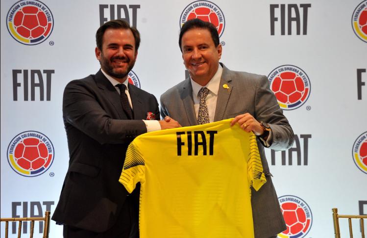 Presentación alianza Fiat-Selección Colombia