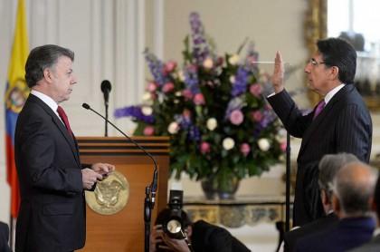 Juan Manuel Santos y Néstor Humberto Martínez