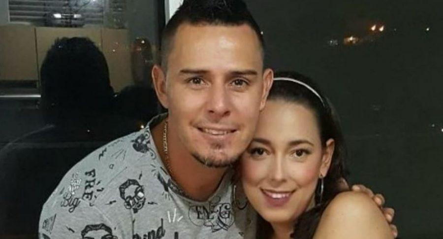 Luis Delgado y su esposa