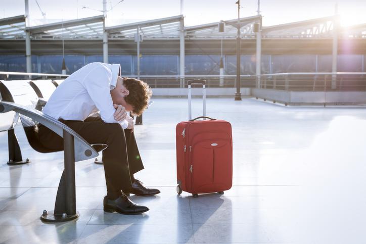 Viajero preocupado