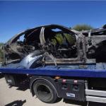 Vehículo accidentado y José Antonio Reyes