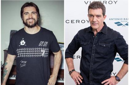 Juanes y Antonio Banderas.