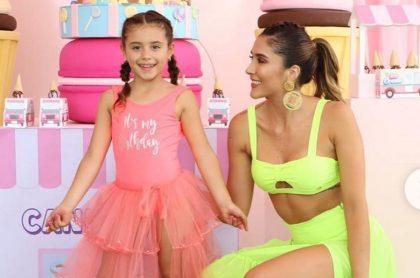 Daniela Ospina, modelo, con Salomé, su hija con el futbolista James Rodríguez.