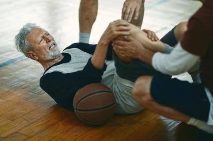 Anciano caído