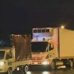 Trancón vehículos de carga