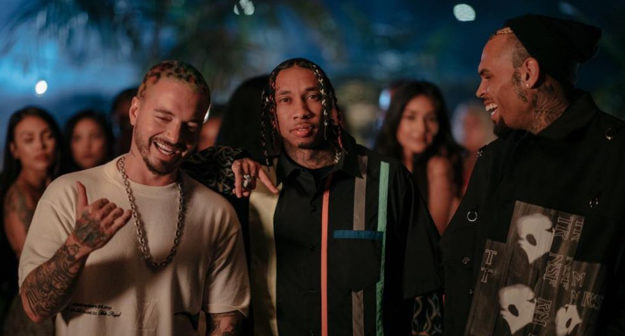 J Balvin, Tyga y Chris Brown
