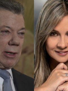 Juan Manuel Santos y Vicky Dávila