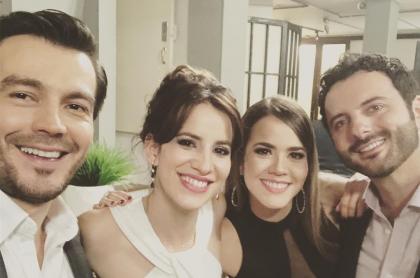Luciano D'Alessandro, Laura Londoño, Laura de León y Mario Espítia