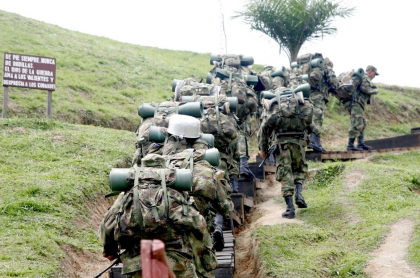 Soldados del ejército colombiano