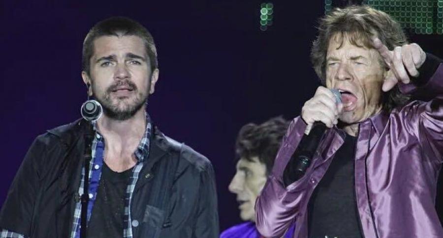 Juanes y Mick Jagger