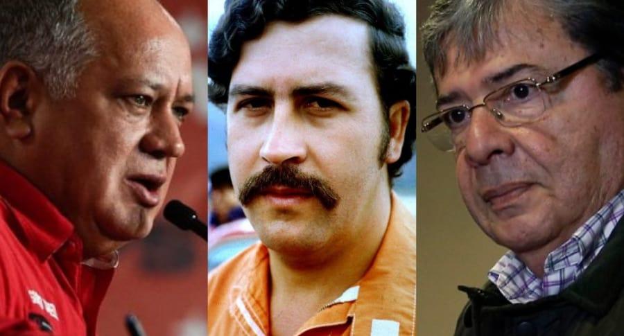 Diosdado Cabello, Pablo Escobar y Carlos Holmes Trujillo
