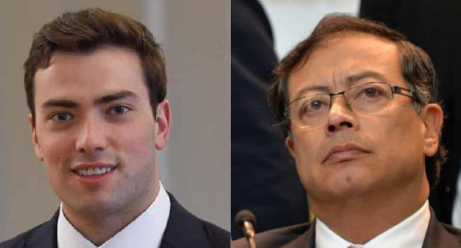 Esteban Santos y Gustavo Petro