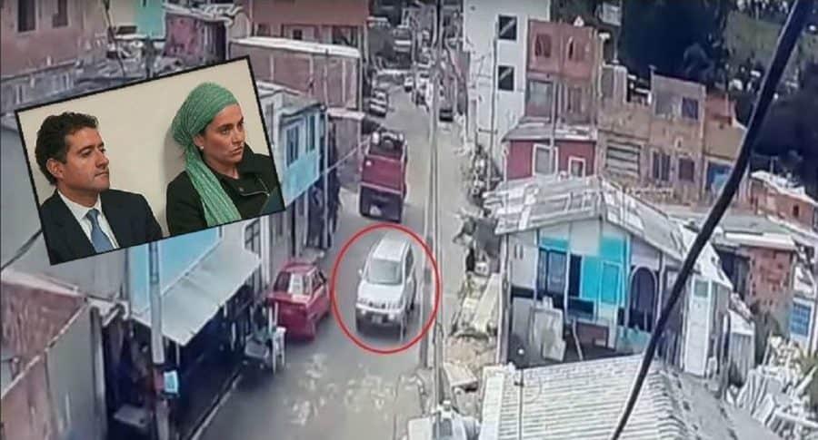 Camioneta en donde Rafael secuestró a la niña