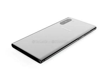 Concepto del Samsung Galaxy Note 10