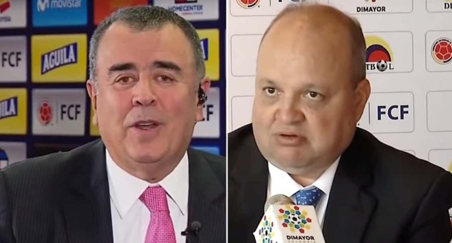 Javier Hernández Bonnet y Jorge Enrique Vélez
