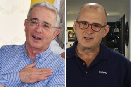 Álvaro Uribe y Jota Mario Valencia