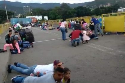 Balacera en el puente internacional Simón Bolívar