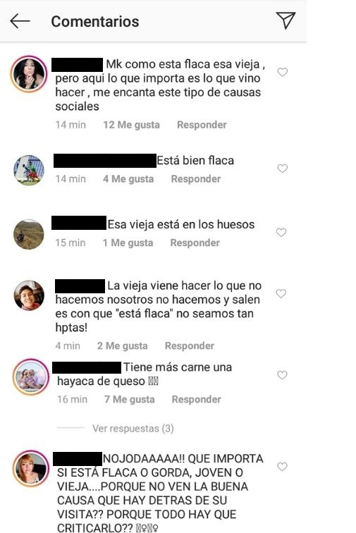 Comentarios post video de Angelina Jolie