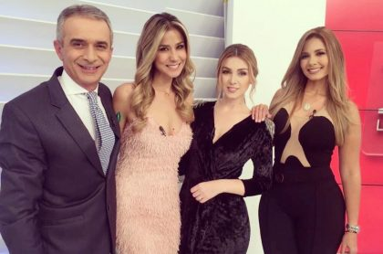 Juan Eduardo Jaramillo, Zahira Benavides, Maritza Aristizábal y Melissa Martínez, presentadores.