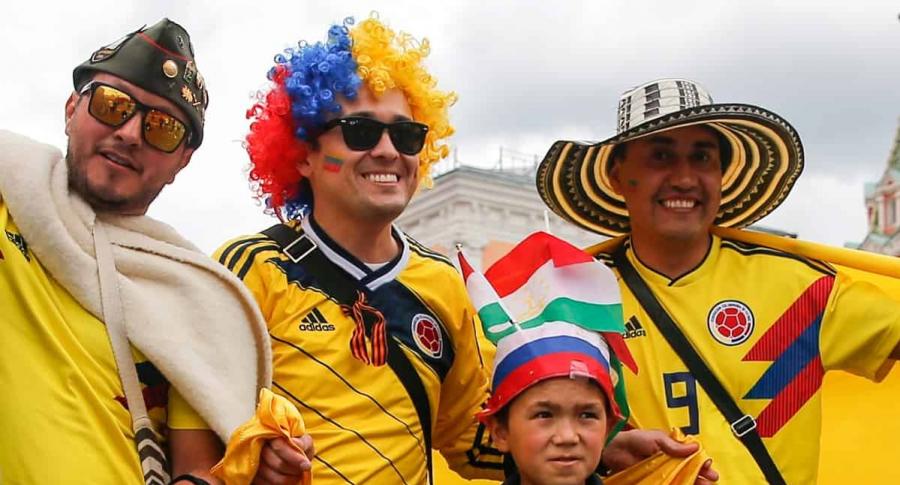 Hinchas colombianos