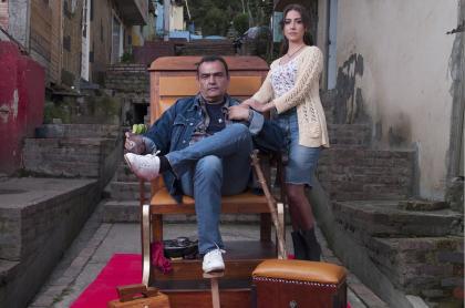 Enrique Carriazo y Verónica Orozco, actores.