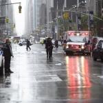 Calle de Manhattan donde está el edificio con el que se estrelló el helicóptero